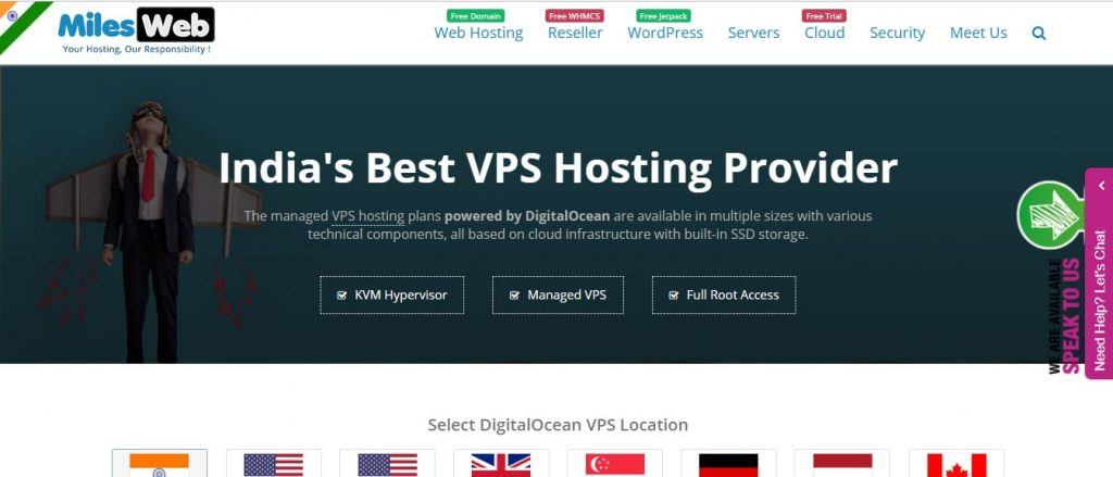 Milesweb VPS India