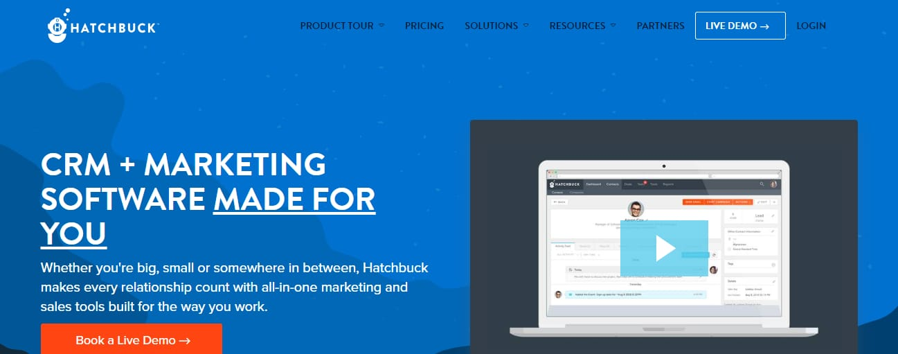 Hatchbuck marketing software