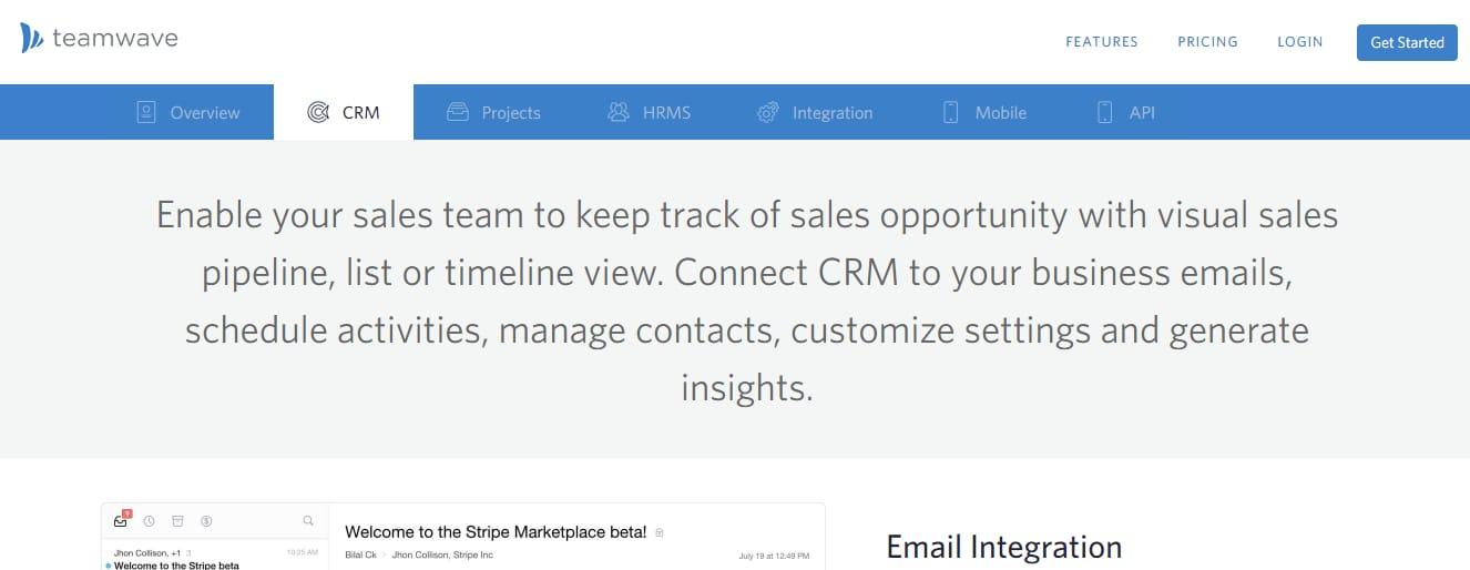 Teamwave CRM, RH, Gestión de proyectos
