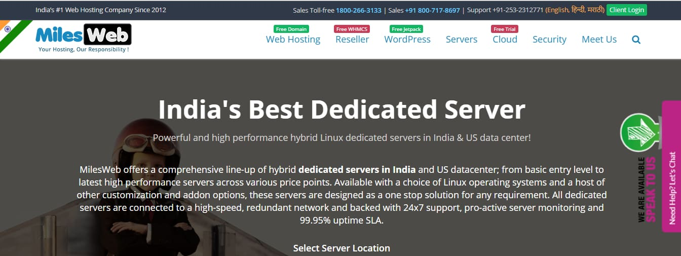 MilesWeb Affordable dedykowany serwer