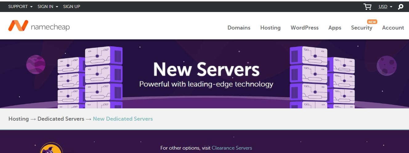 Namecheap Server