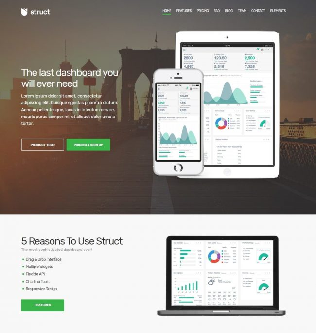 Template WordPress Struct