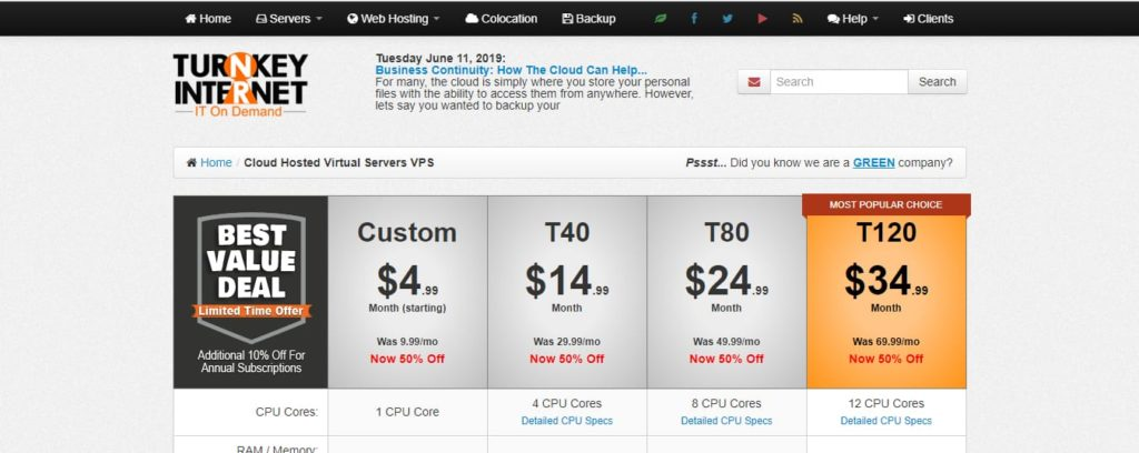 Turnkey Internet Cloud VPS